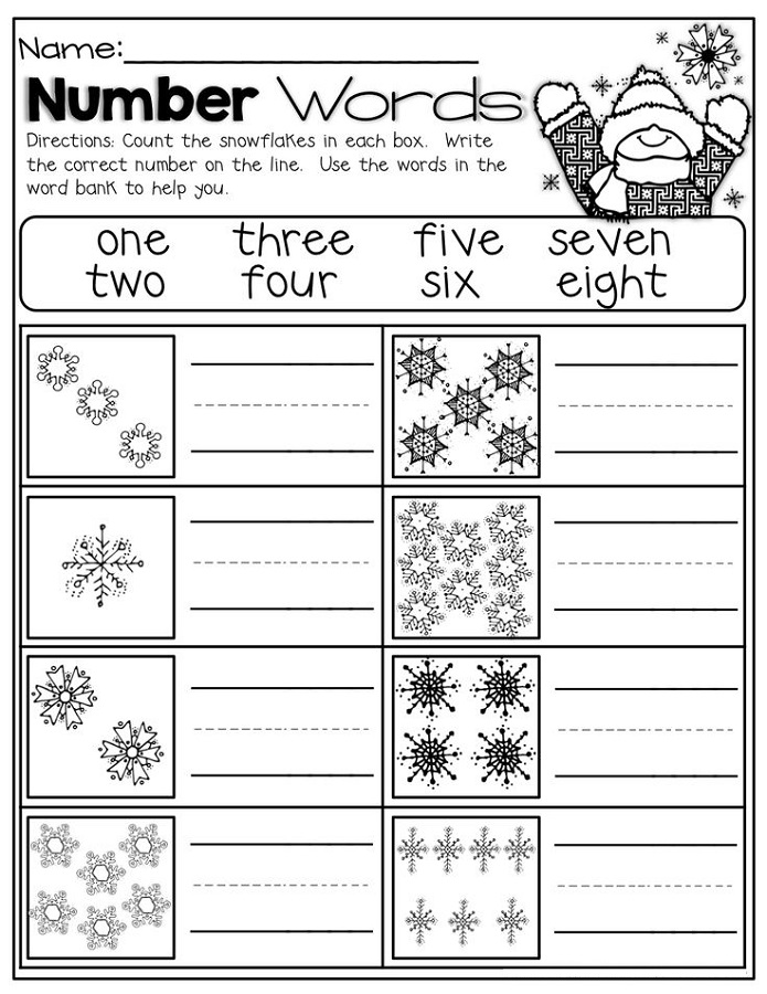number words worksheet printable