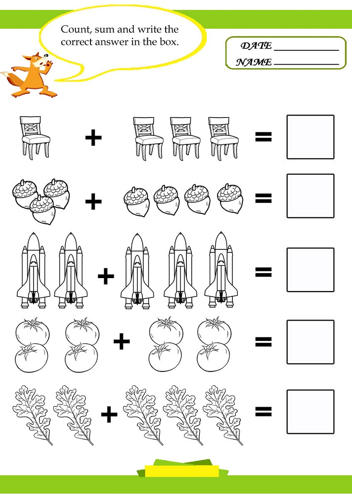 pictures of math worksheets addition