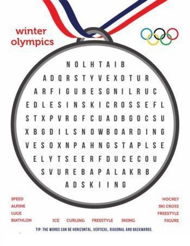 sport word searches simple
