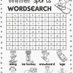 sport word searches winter