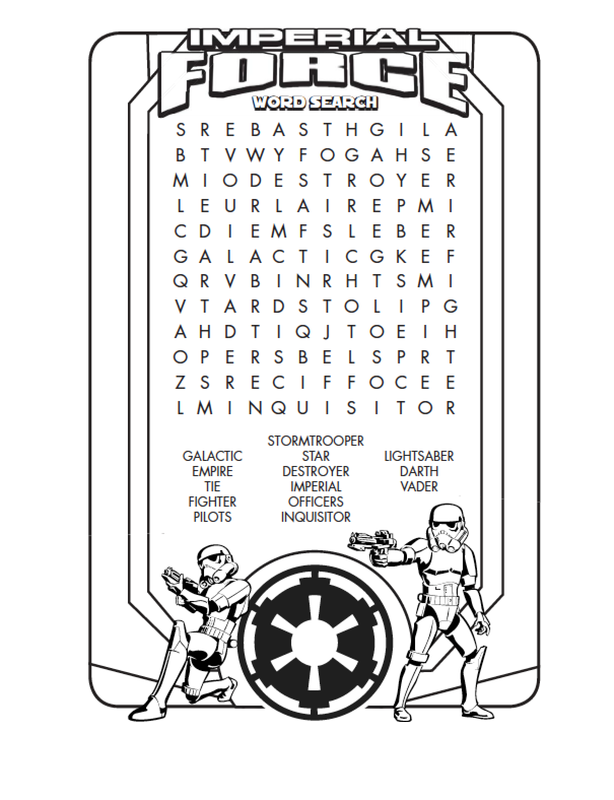 star wars word search simple