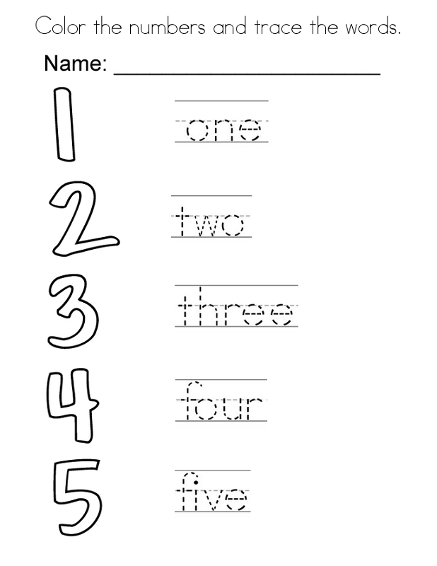 Trace the Numbers | K5 Worksheets