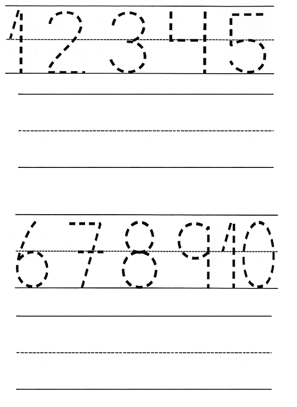 traceable numbers worksheets preschool