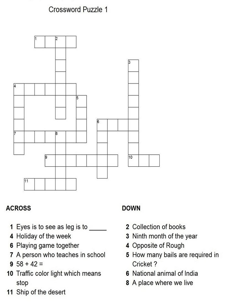 word puzzles for kids easy