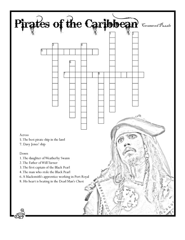 word puzzles for kids pirates
