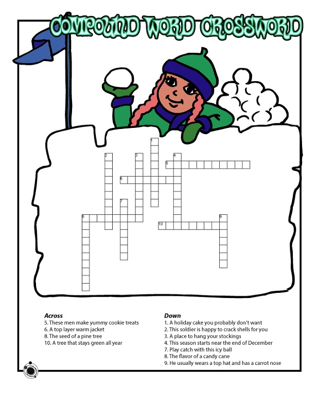 word puzzles for kids winter