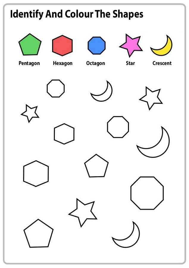 work sheets for kids color