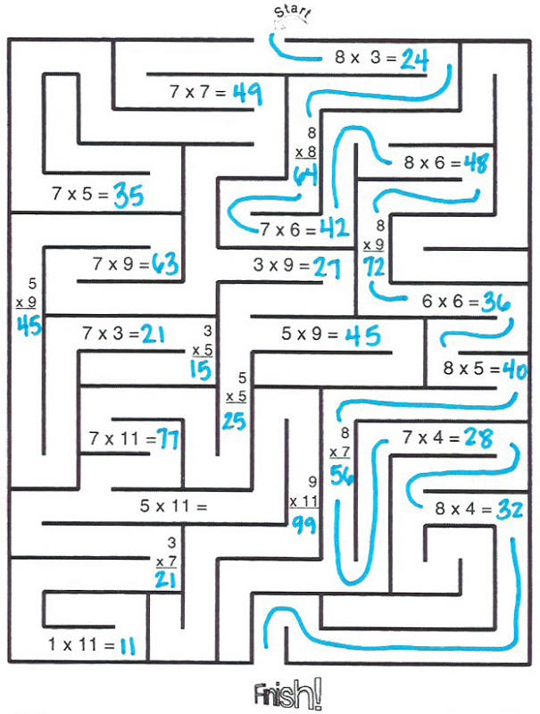 worksheet works answers maze