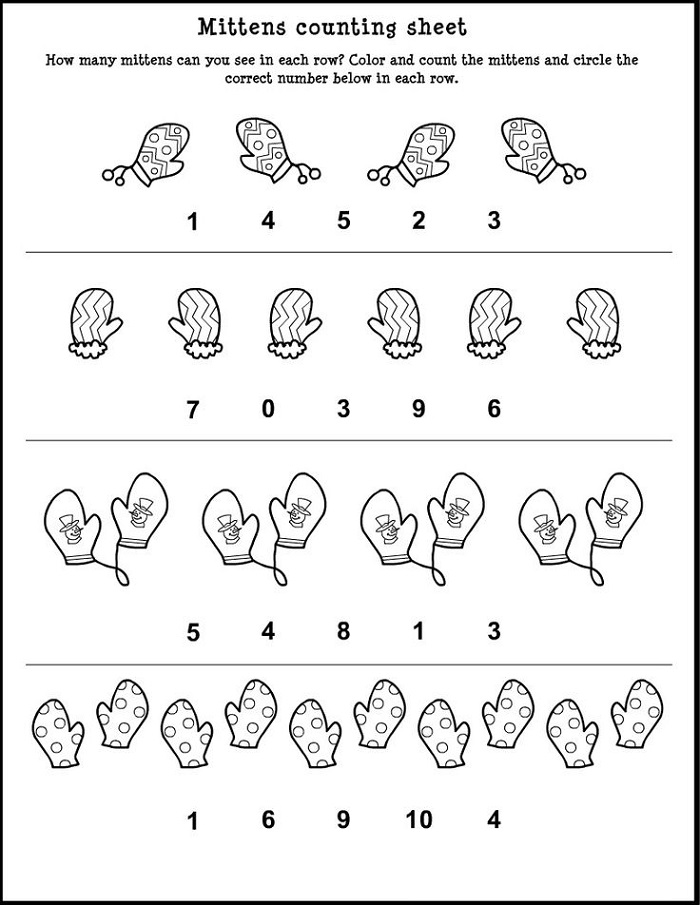 Free Worksheets to Print Counting