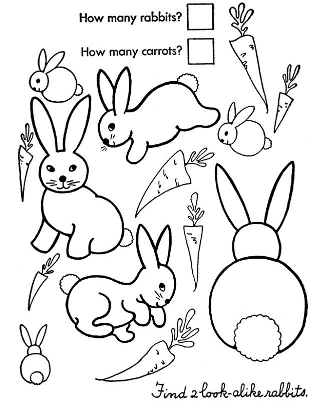 activity sheet for kids count