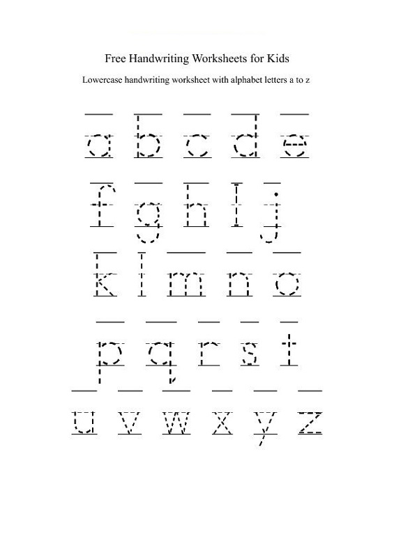 alphabet practice worksheets a-z