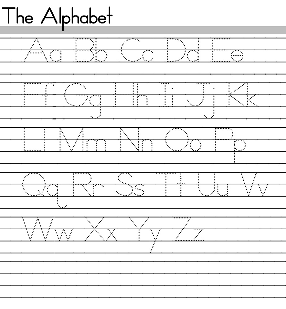 alphabet practice worksheets trace