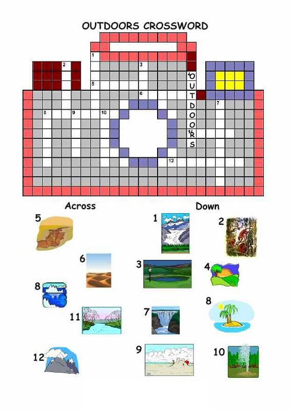 free crosswords for kids large