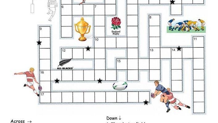 free crosswords for kids sport