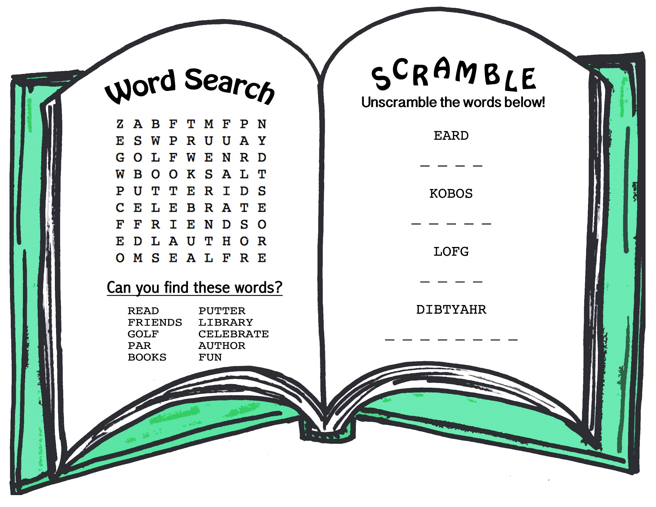 free easy word search book