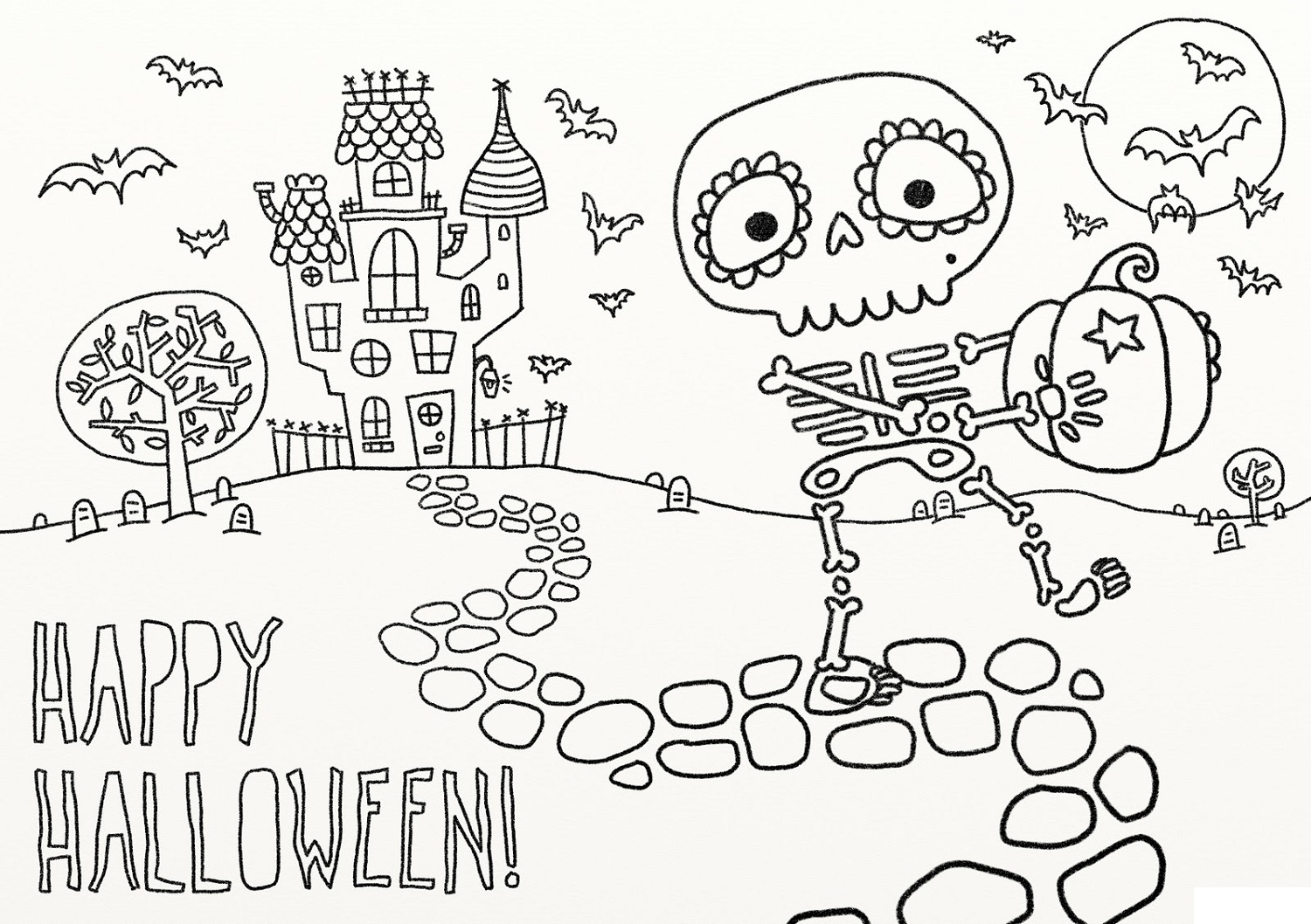 fun pages for kids halloween