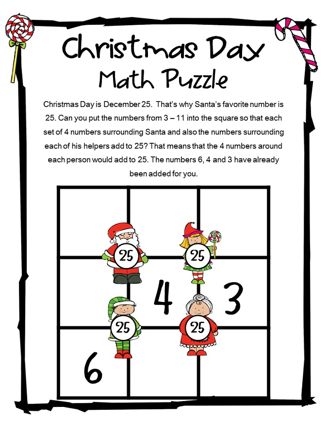 fun puzzle worksheets christmas