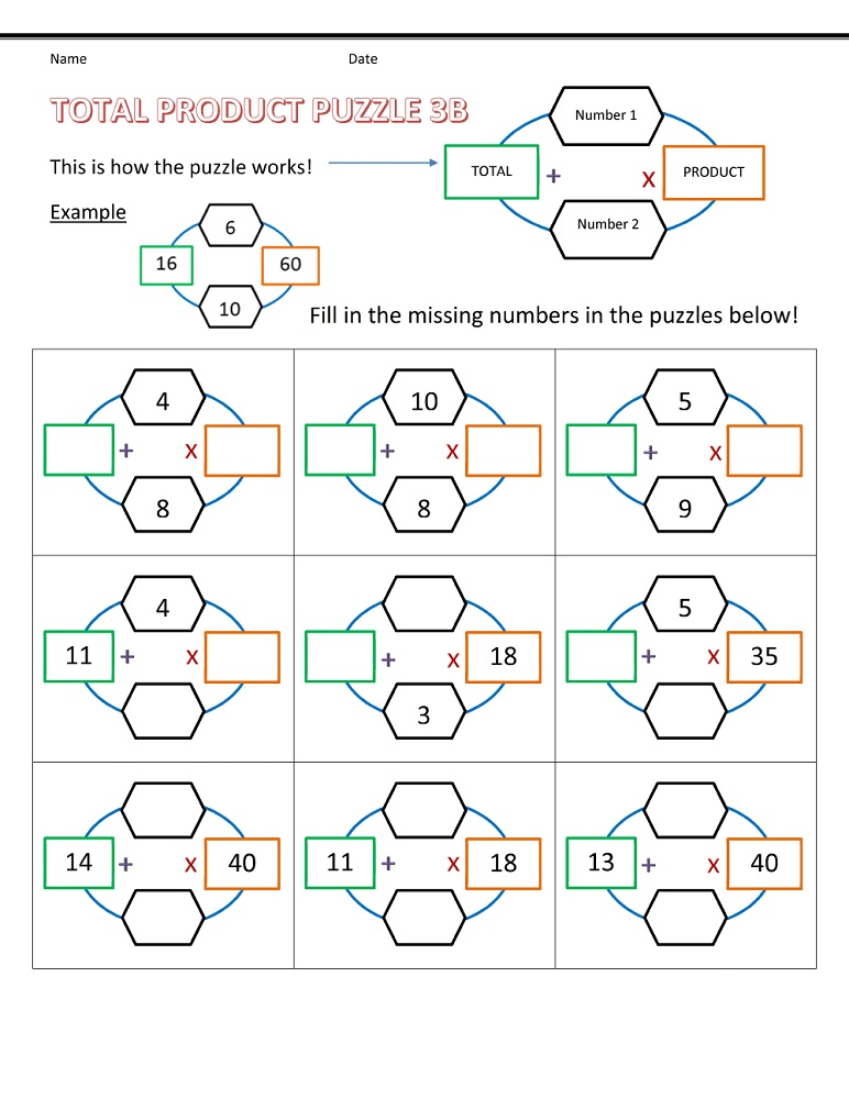 fun puzzle worksheets free