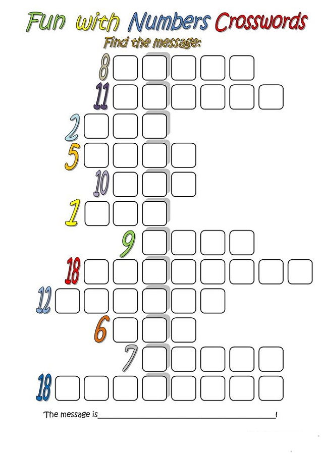 fun puzzle worksheets numbers