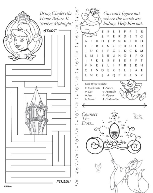 kids activity pages free puzzle