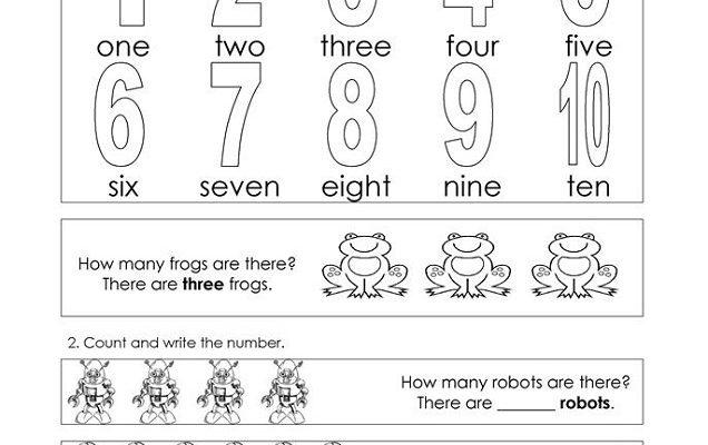 numbers 1-10 worksheets practice