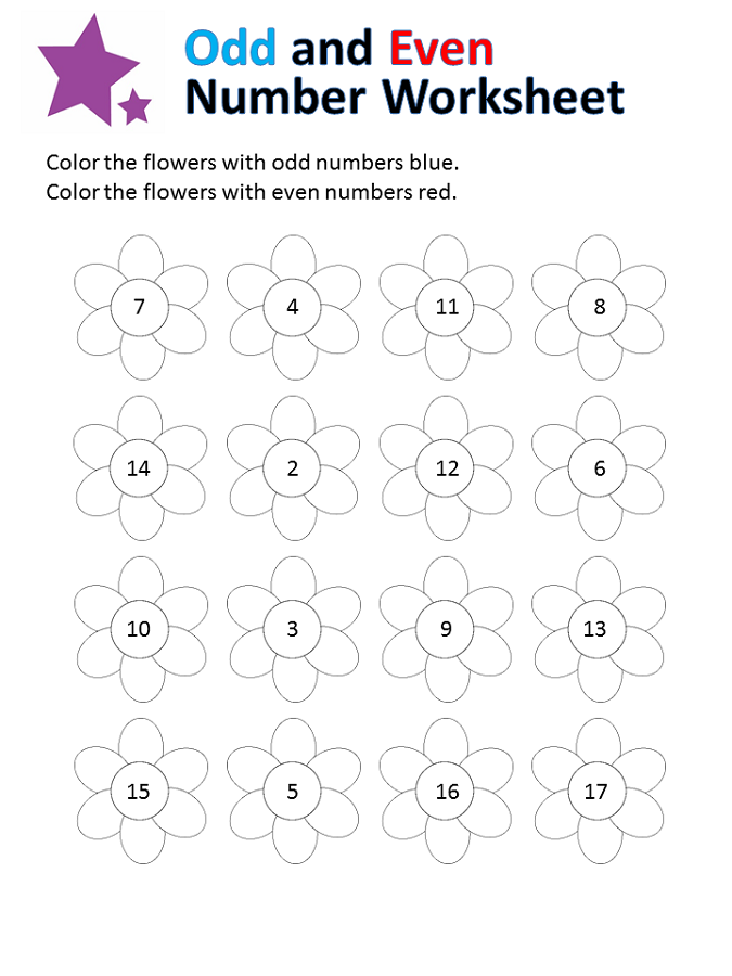 odd and even numbers worksheets for kids
