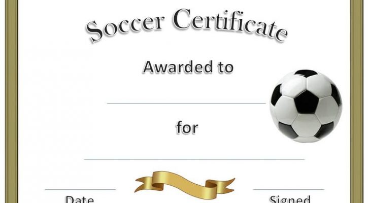 soccer certificate templates printable