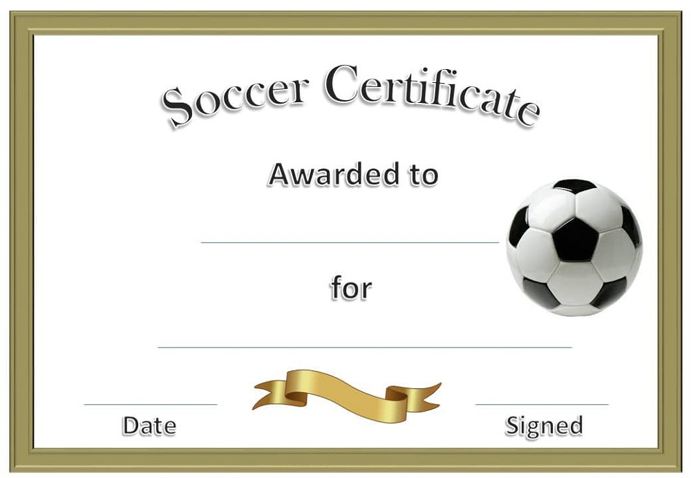 soccer certificate templates printable