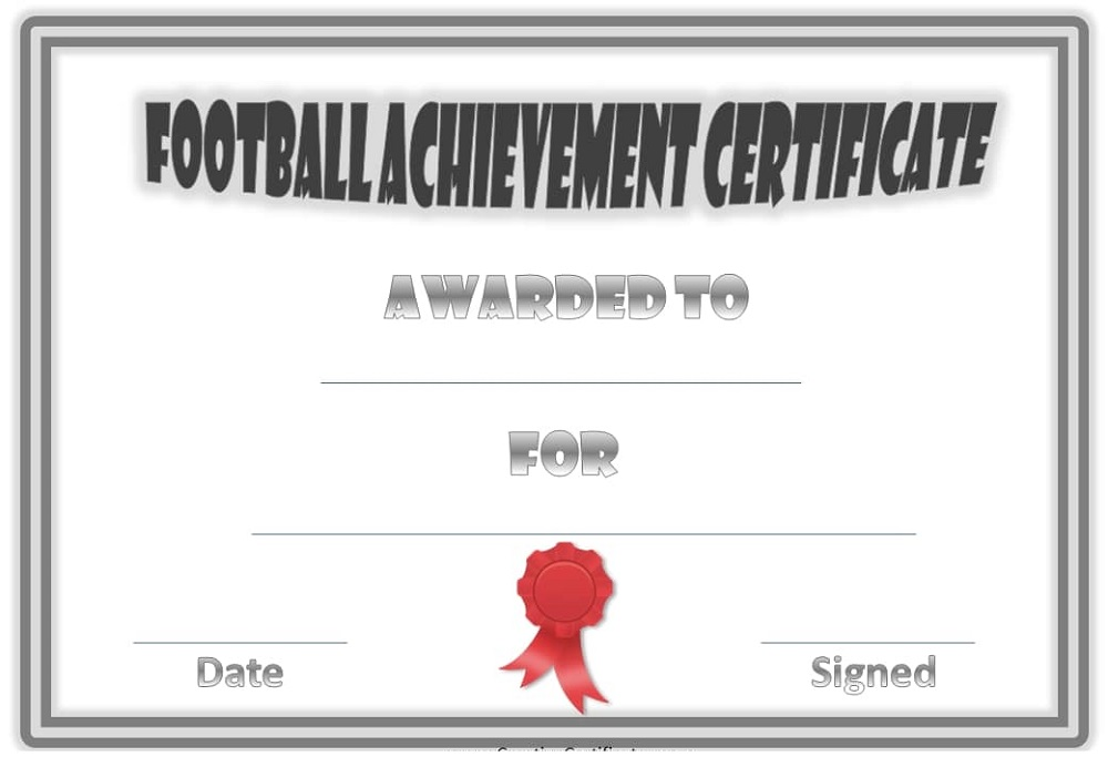 soccer certificate templates to print