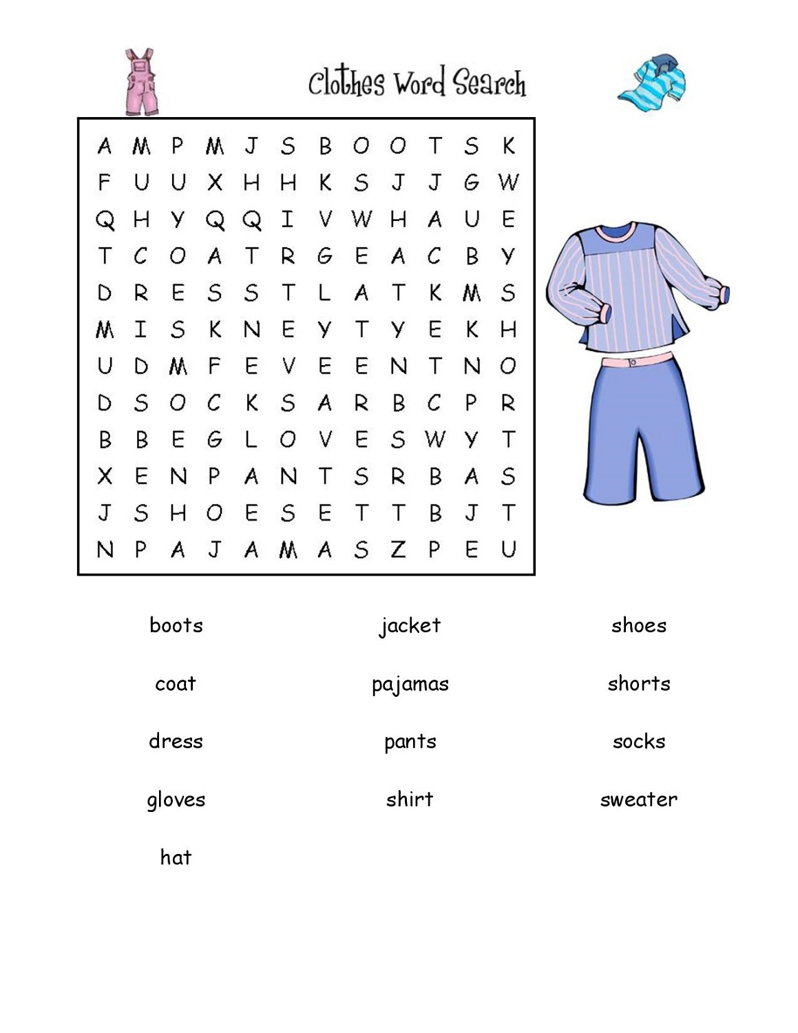 word search easy online