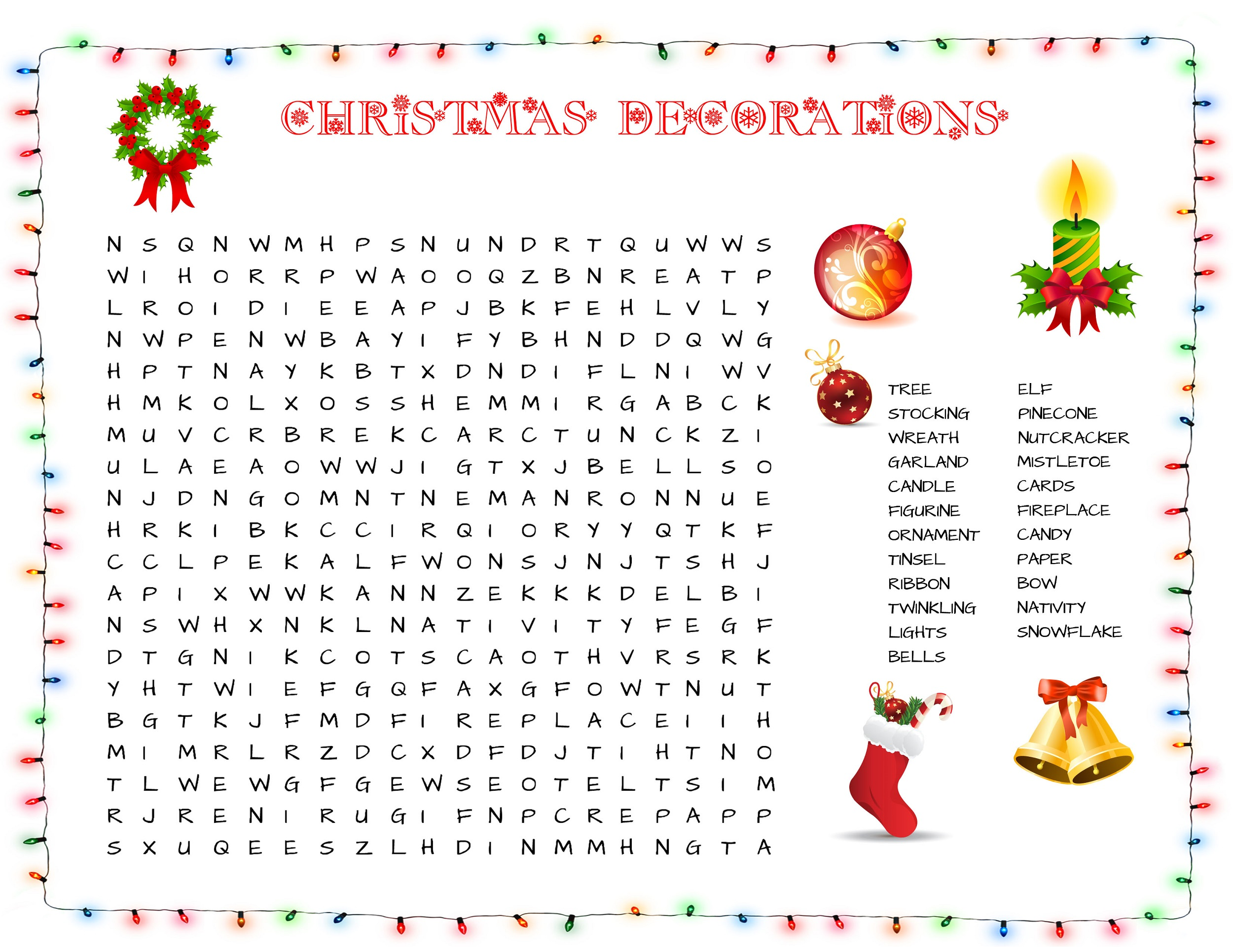 word search puzzle for kids printable