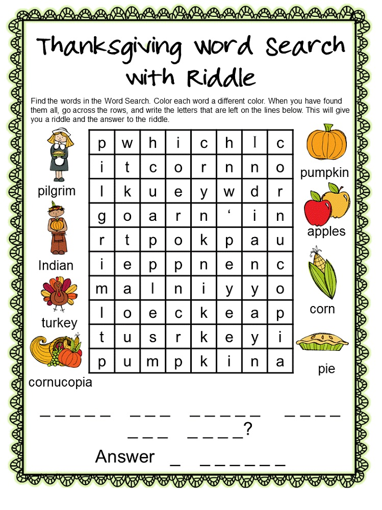 word search puzzle for kids to print