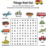 word searches for kids printable