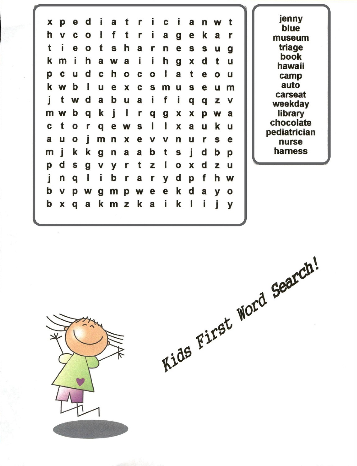 word searches for kids to print