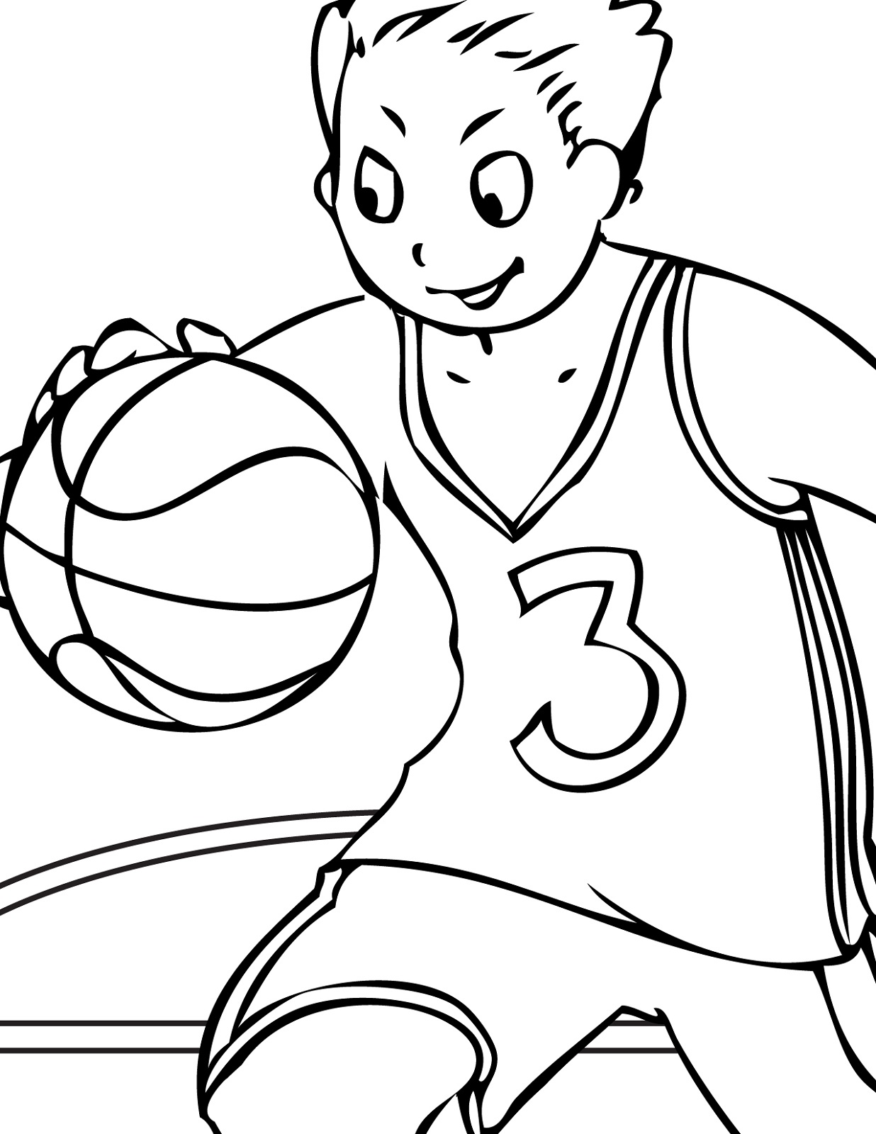 Coloring Images for Kids Sport