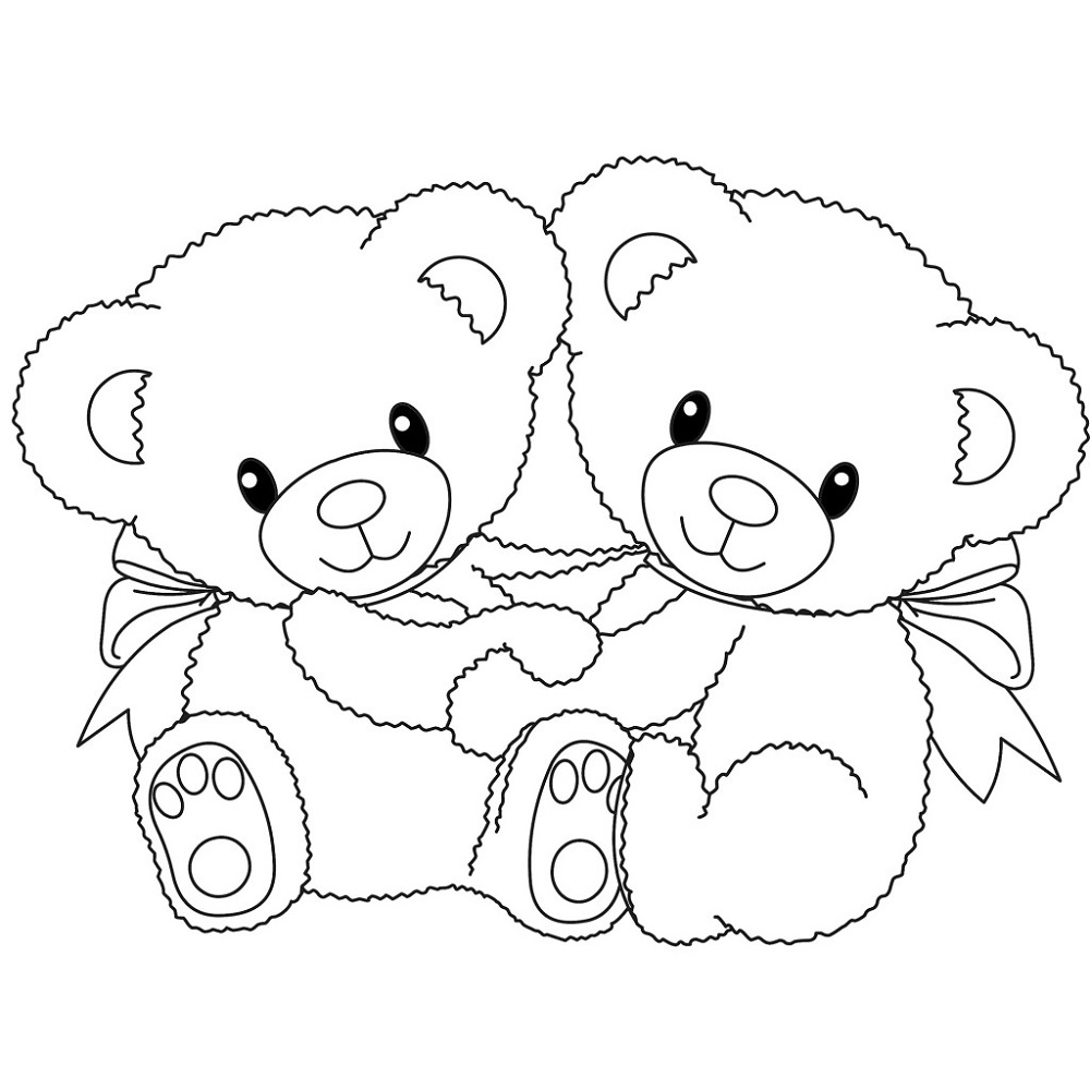 Coloring Sheets for Kids Bear