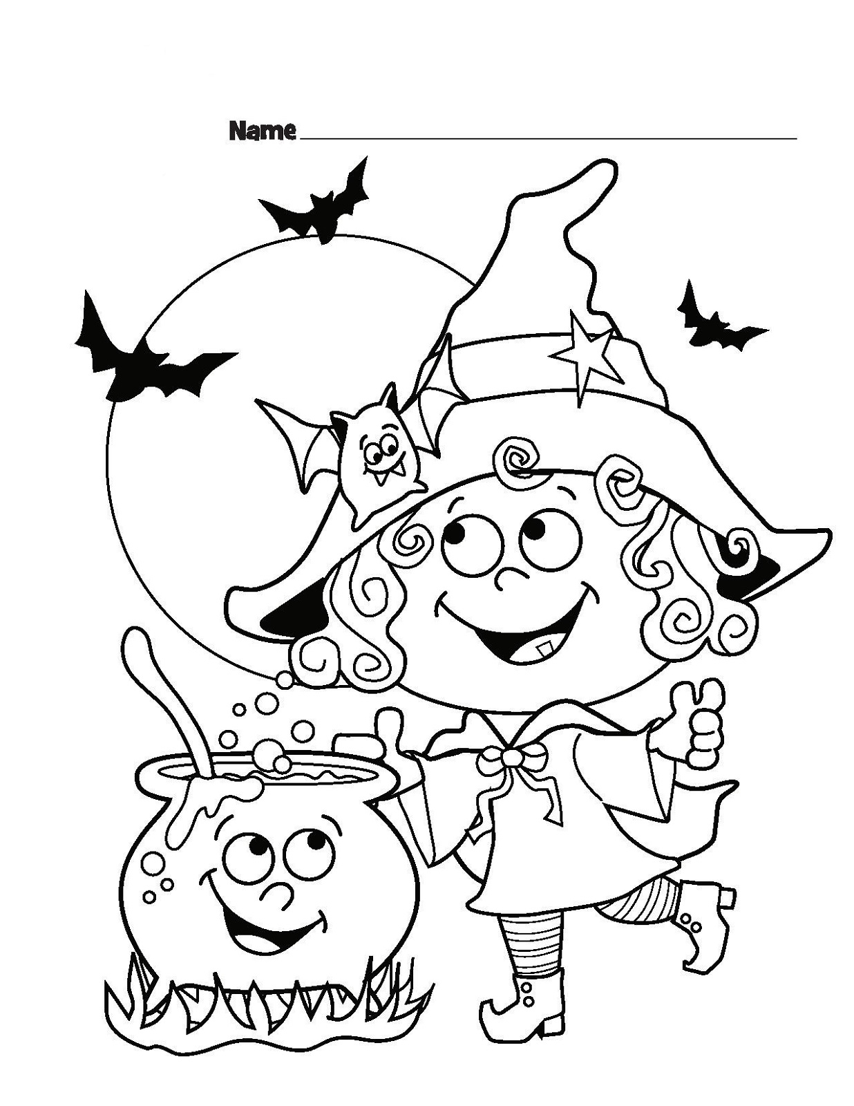 Coloring Sheets for Kids Halloween