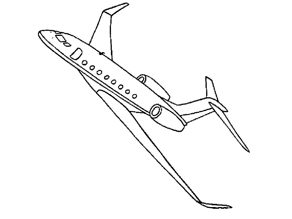 Colouring Games for Boys Plane