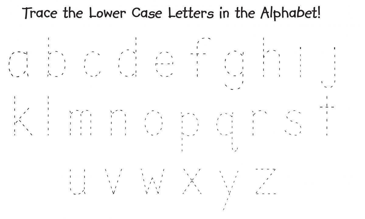 Tracing Alphabet Lowercase