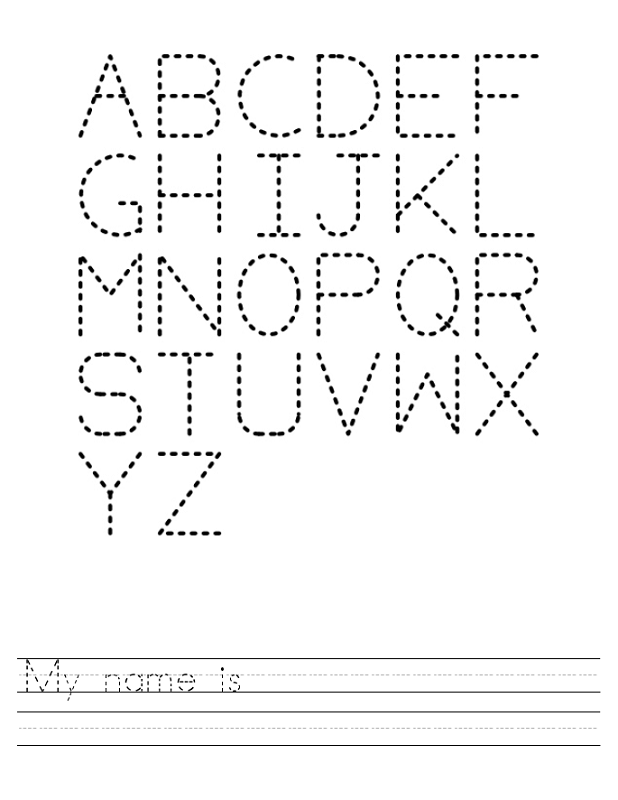 abc traceable worksheets uppercase