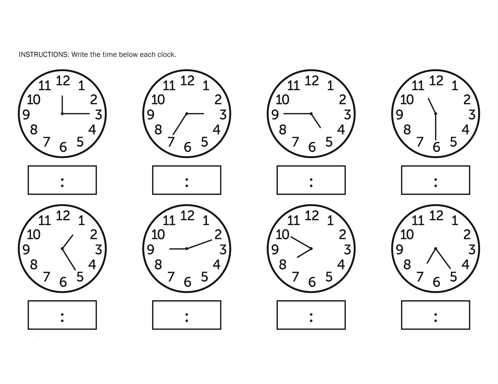 elapsed time worksheet activity