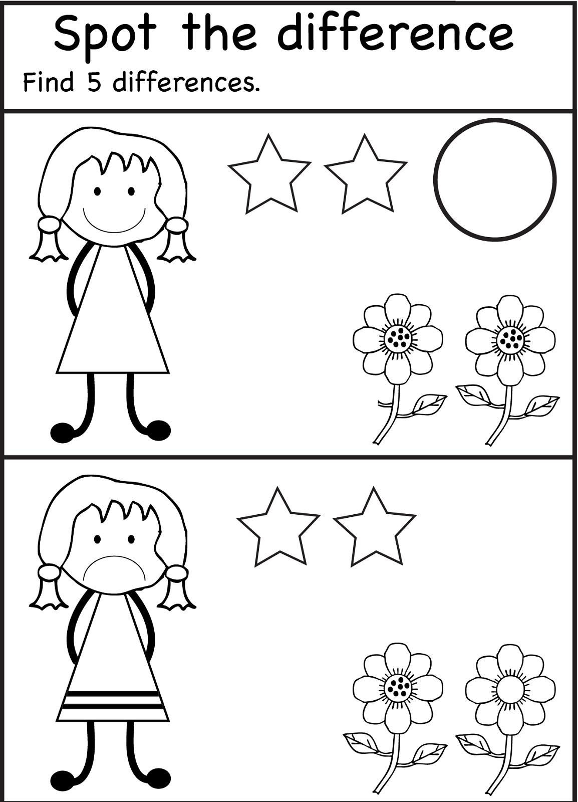 Childrens Printables Different