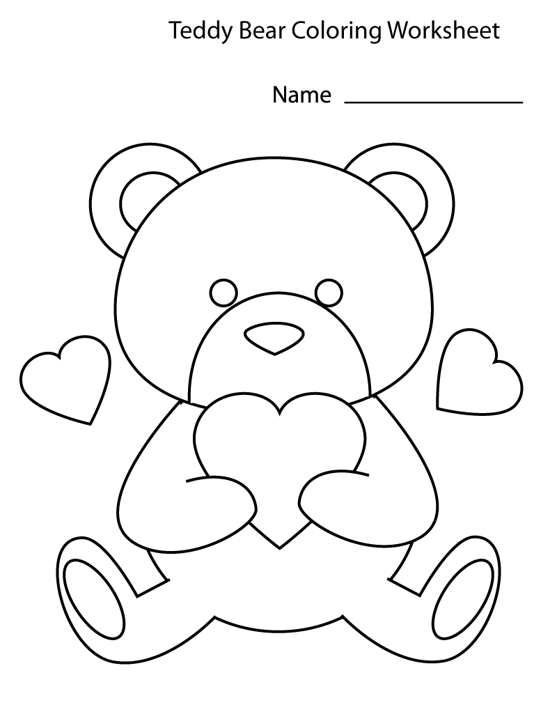 Coloring Activity Sheets Kindergarten