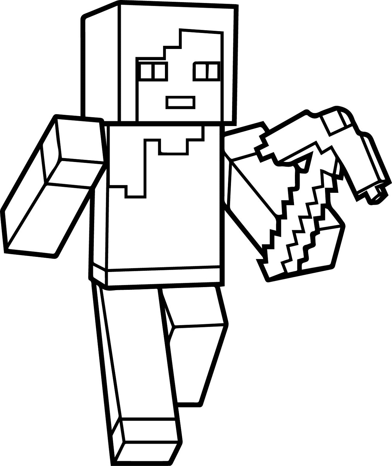 Coloring Pages to Print Minecraft