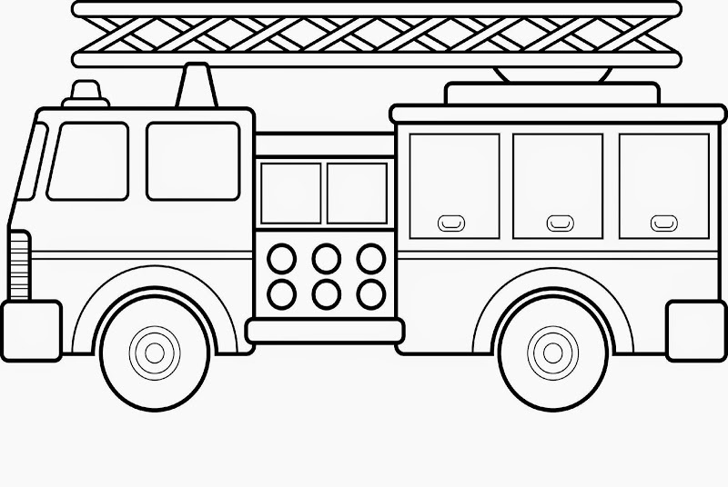 Colour Activities for Children truck