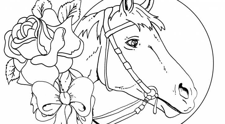 Cool Horse Coloring Pages