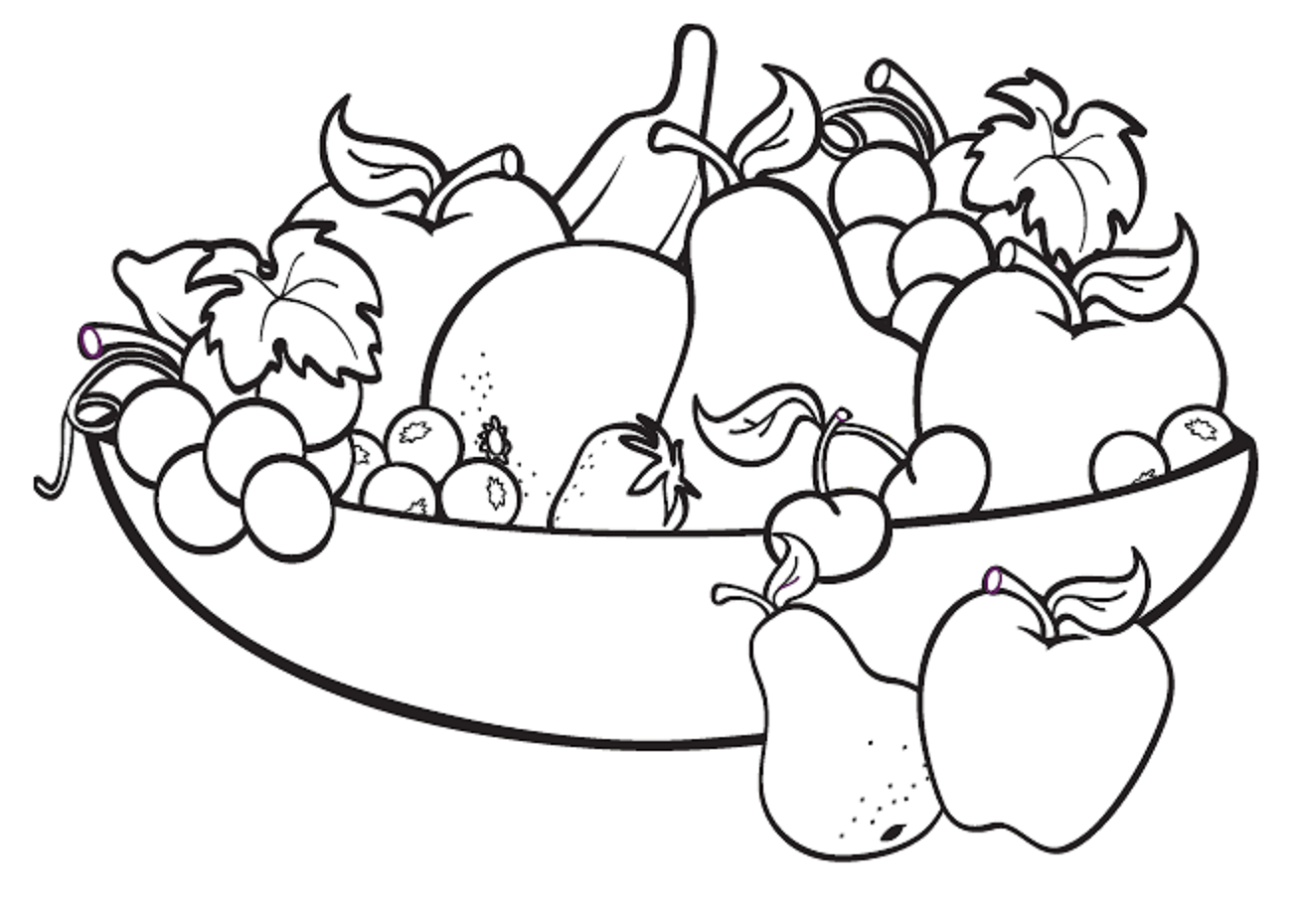 Drawing Pages Fruit
