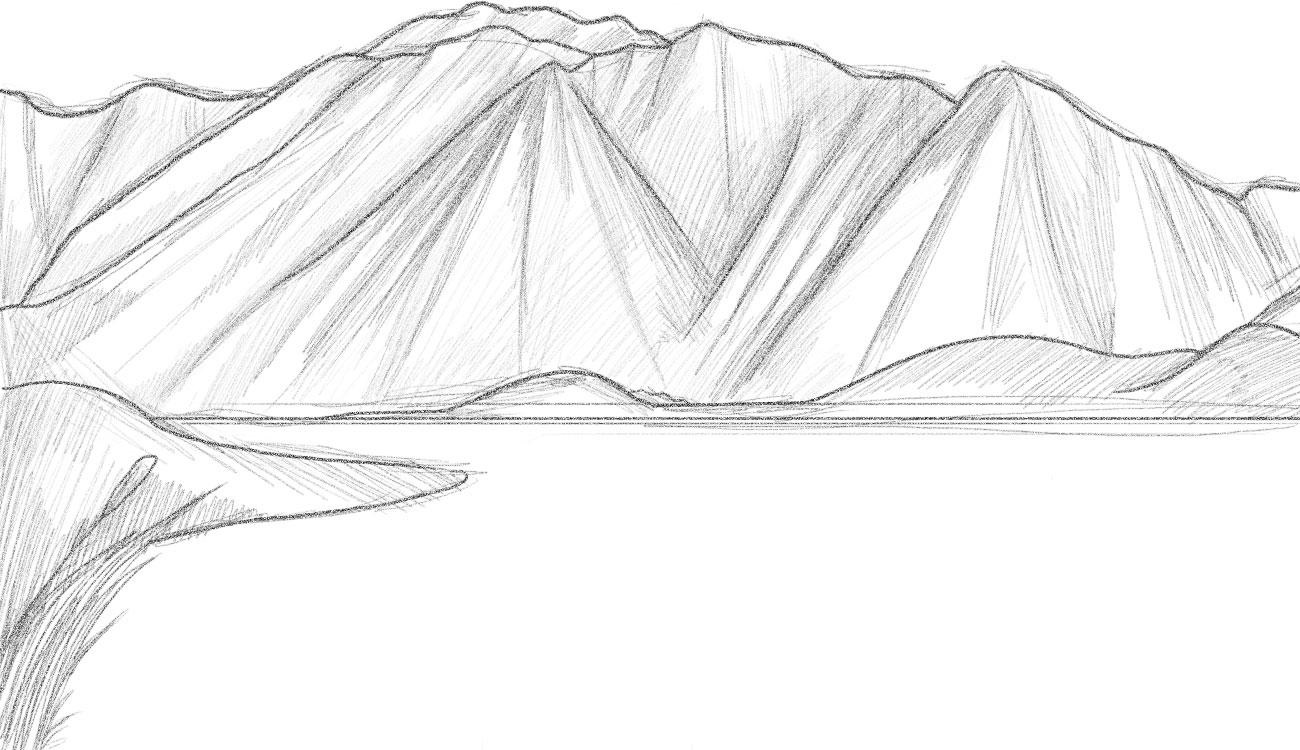 Drawing Pages Mountain