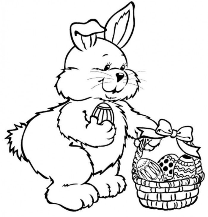 Drawing for Kids to Colour Rabbit