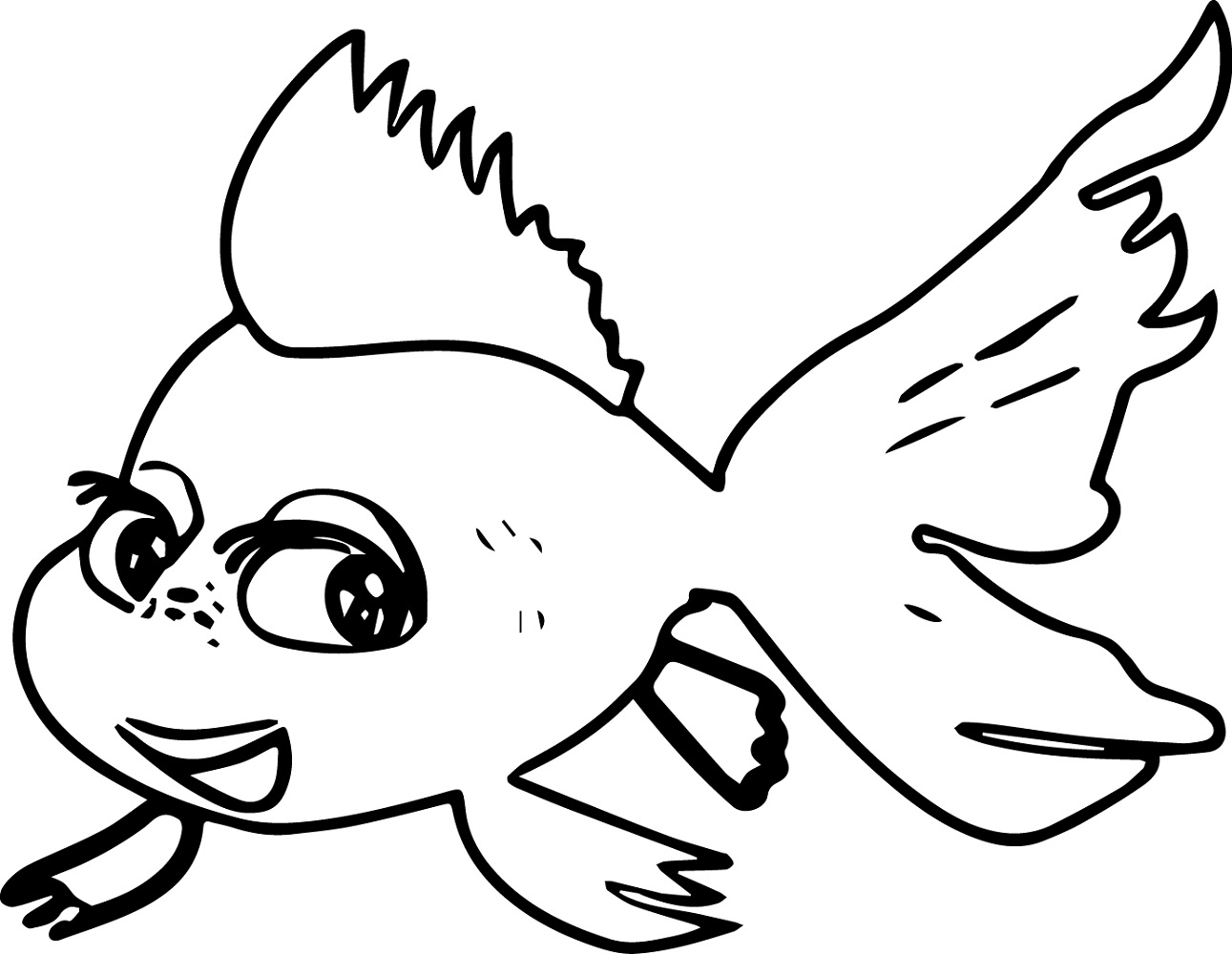 Fish Coloring Pages for Girls